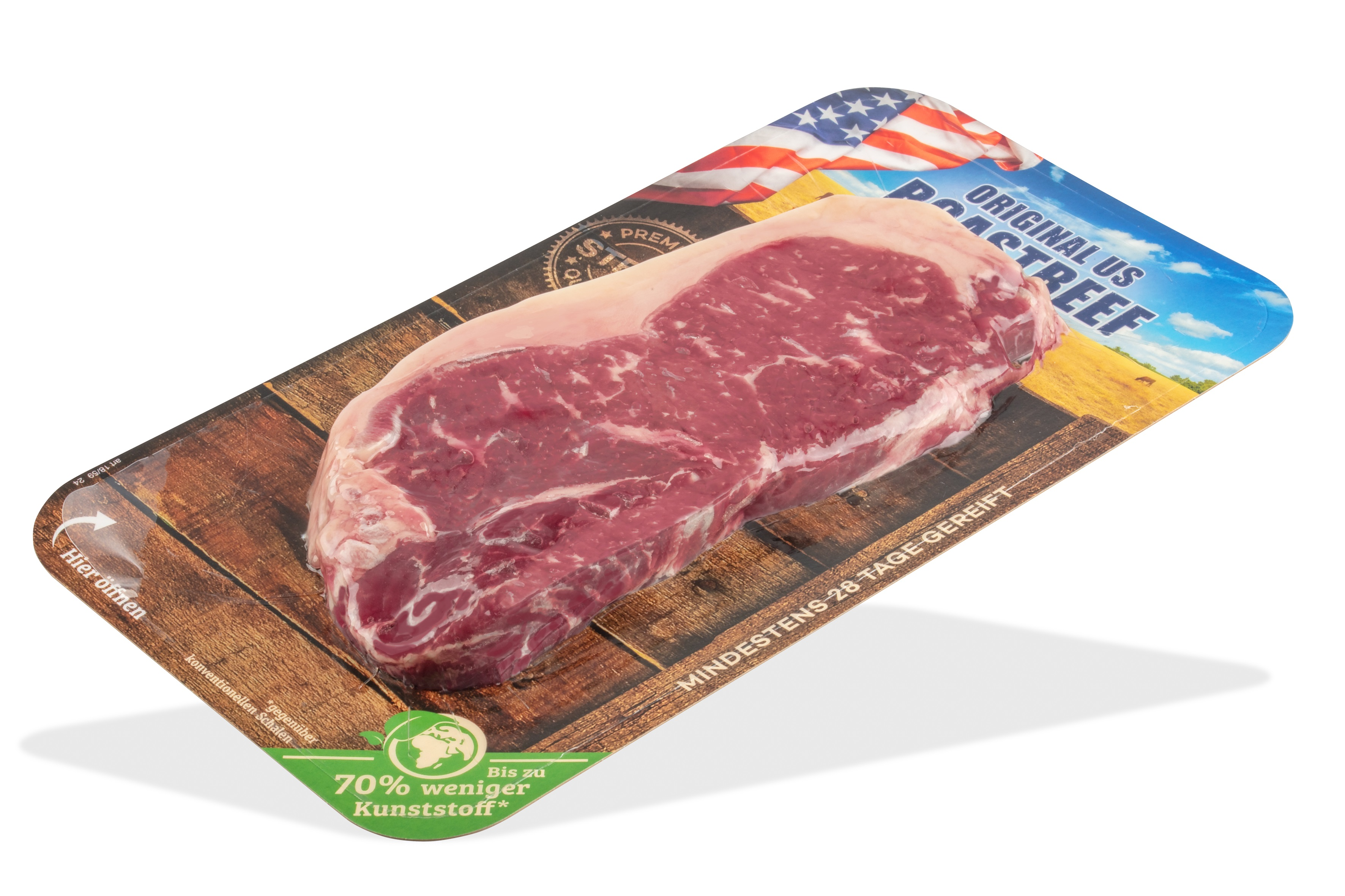 Sustainable FlatSkin® packaging for fresh meat