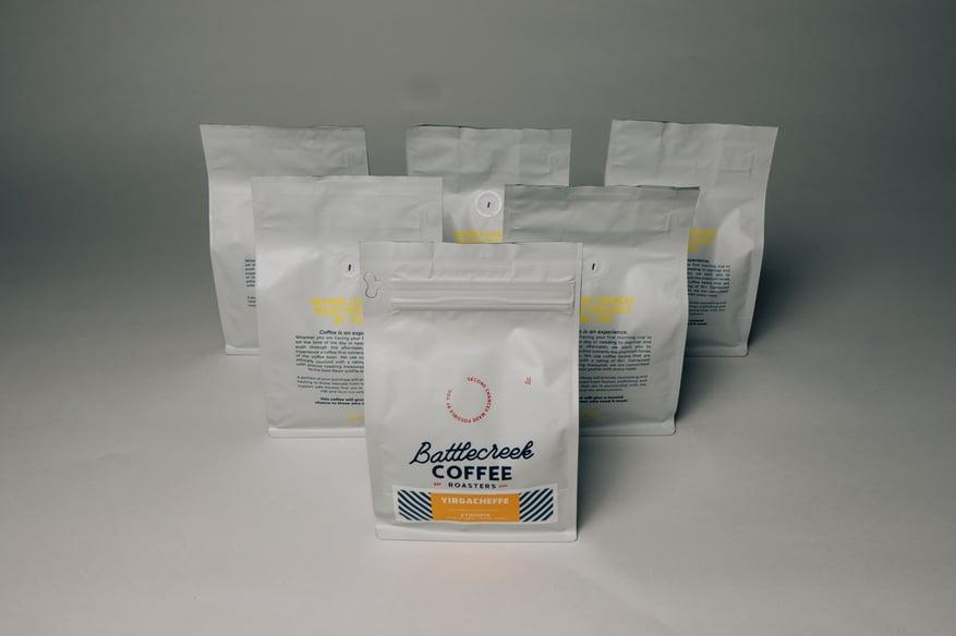 Coffee Beans in Flexible Packaging