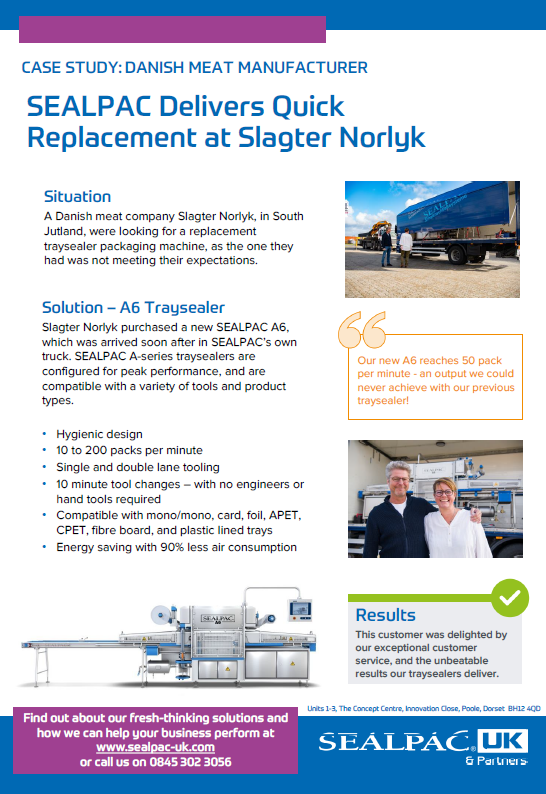 SEALPAC delivers quick replacement at danish meat company case study preview image