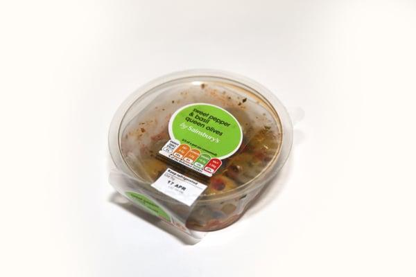Sainsbury queenolives pot