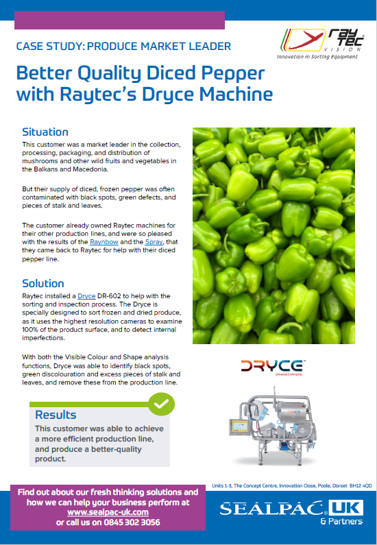 better quality diced pepper with Raytec Dryce case study preview image