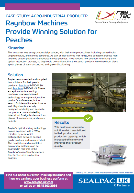 Raynbow Machines Provide Winning Solution for Peaches case study preview image