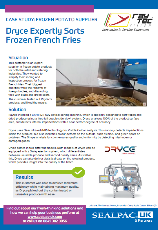 dryce expertly sorts frozen french fries case study preview image