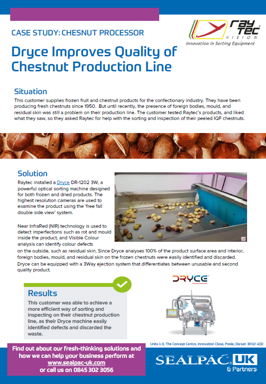 dryce improves quality of chestnut production line case study preview image