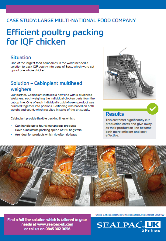 efficient poultry packing for IQF chicken case study preview image