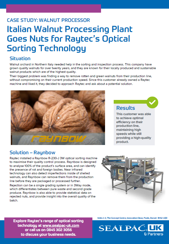 italian walnut processing plant goes nuts for raytecs optical sorting technology case study preview image