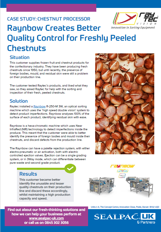 raynbow creates better quality control for freshly peeled chestnuts case study preview image