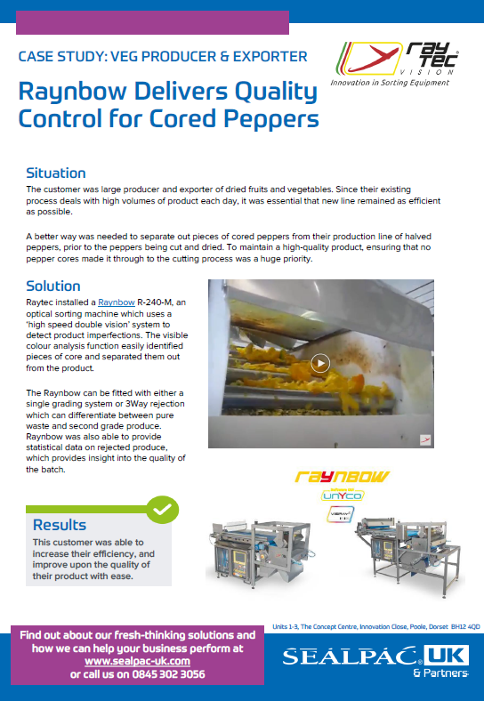 raynbow delivers quality control for cored peppers case study preview image