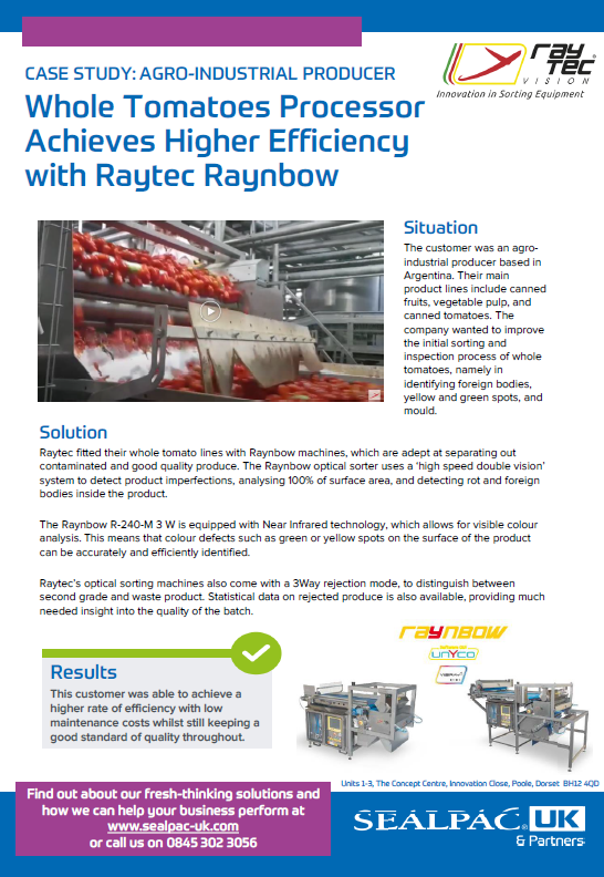whole tomatoes processor achieves higher efficiency with raytec raynbow case study preview image